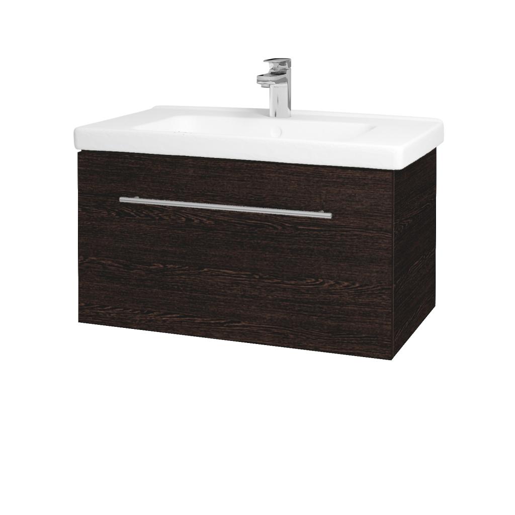 Dřevojas - Koupelnová skříň BIG INN SZZ 80 - D08 Wenge / Úchytka T02 / D08 Wenge (132682B)