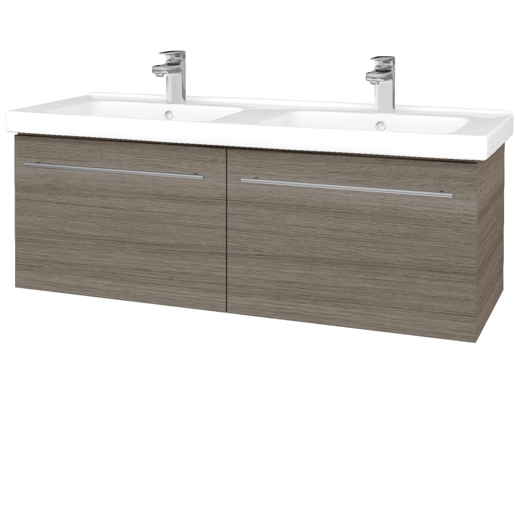 Dřevojas - Koupelnová skříň BIG INN SZZ2 125 - D03 Cafe / Úchytka T02 / D03 Cafe (28940B)