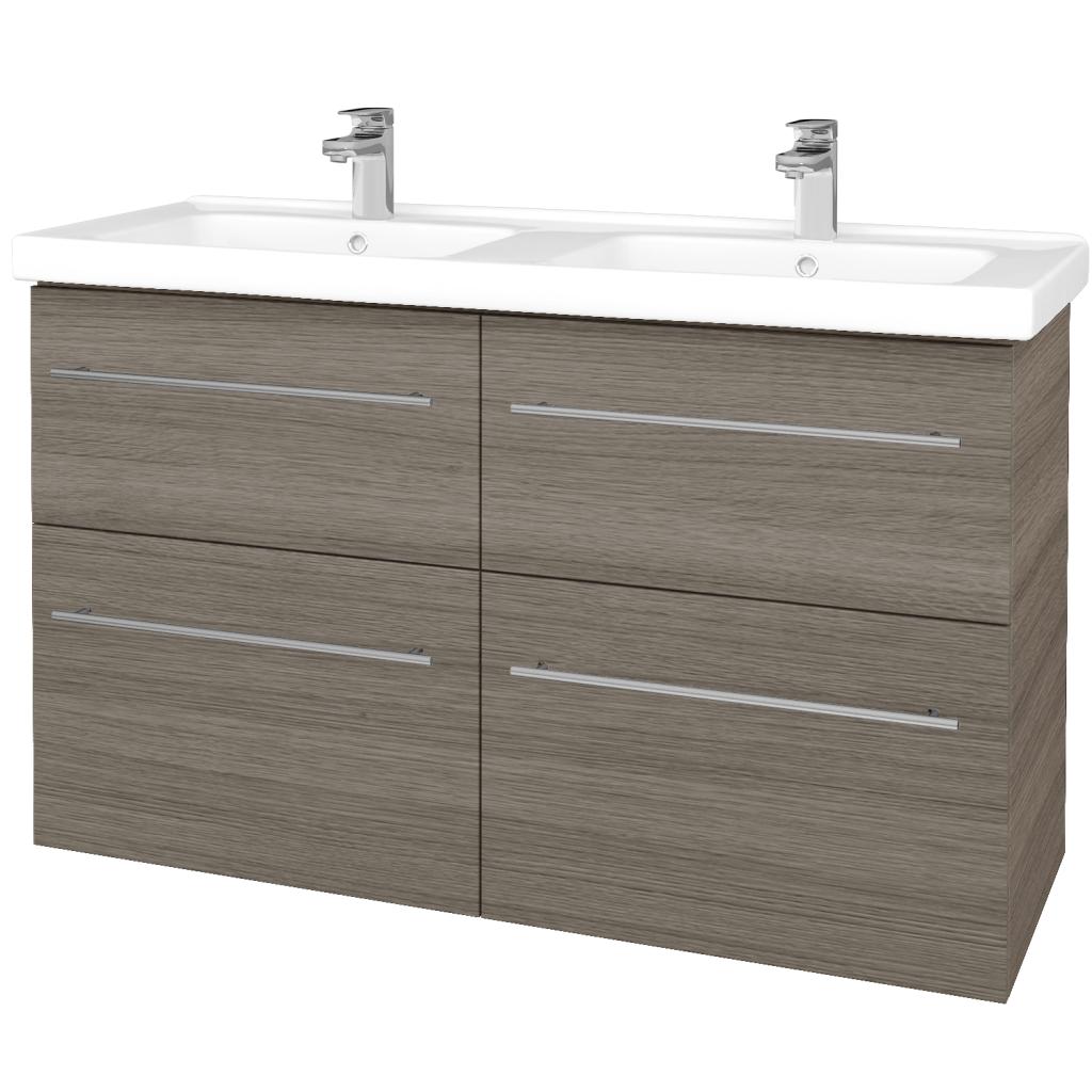 Dřevojas - Koupelnová skříň BIG INN SZZ4 125 - D03 Cafe / Úchytka T02 / D03 Cafe (27653B)