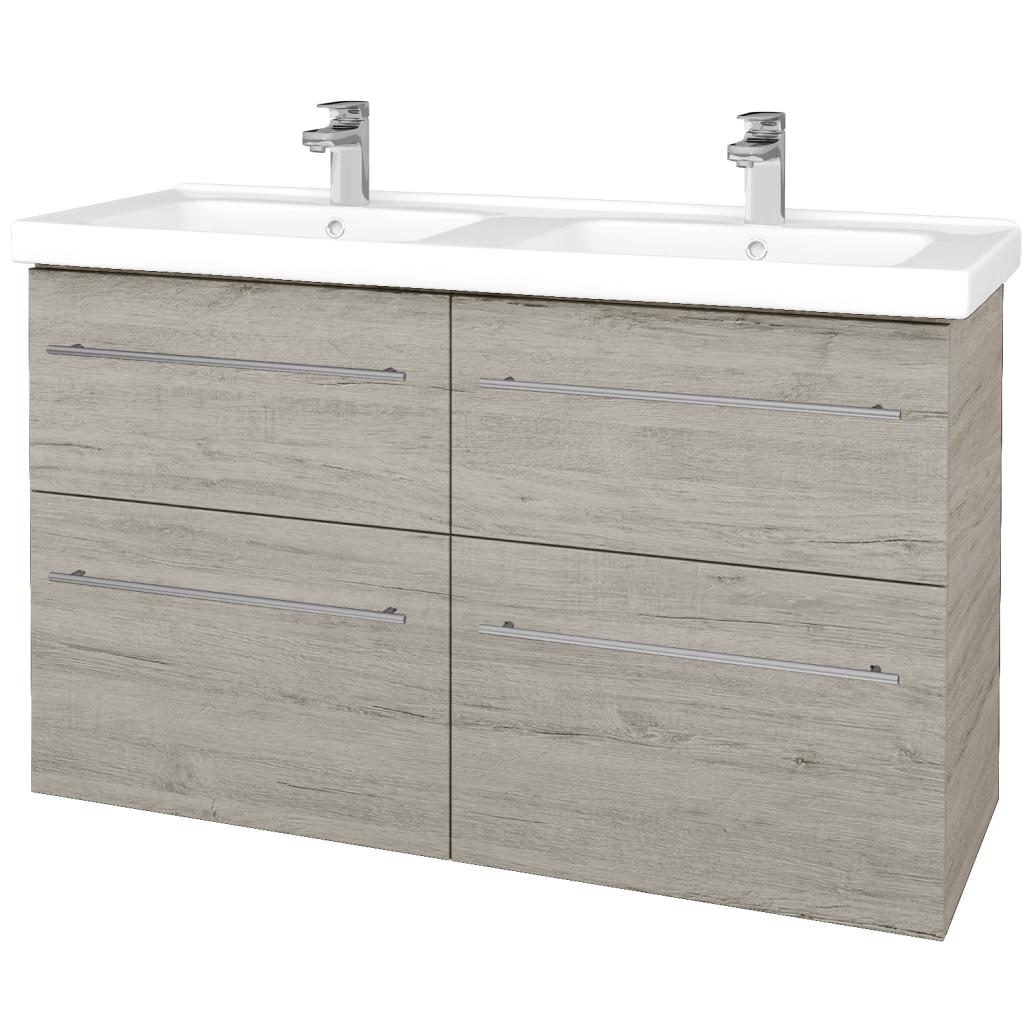 Dřevojas - Koupelnová skříň BIG INN SZZ4 125 - D05 Oregon / Úchytka T02 / D05 Oregon (27752B)