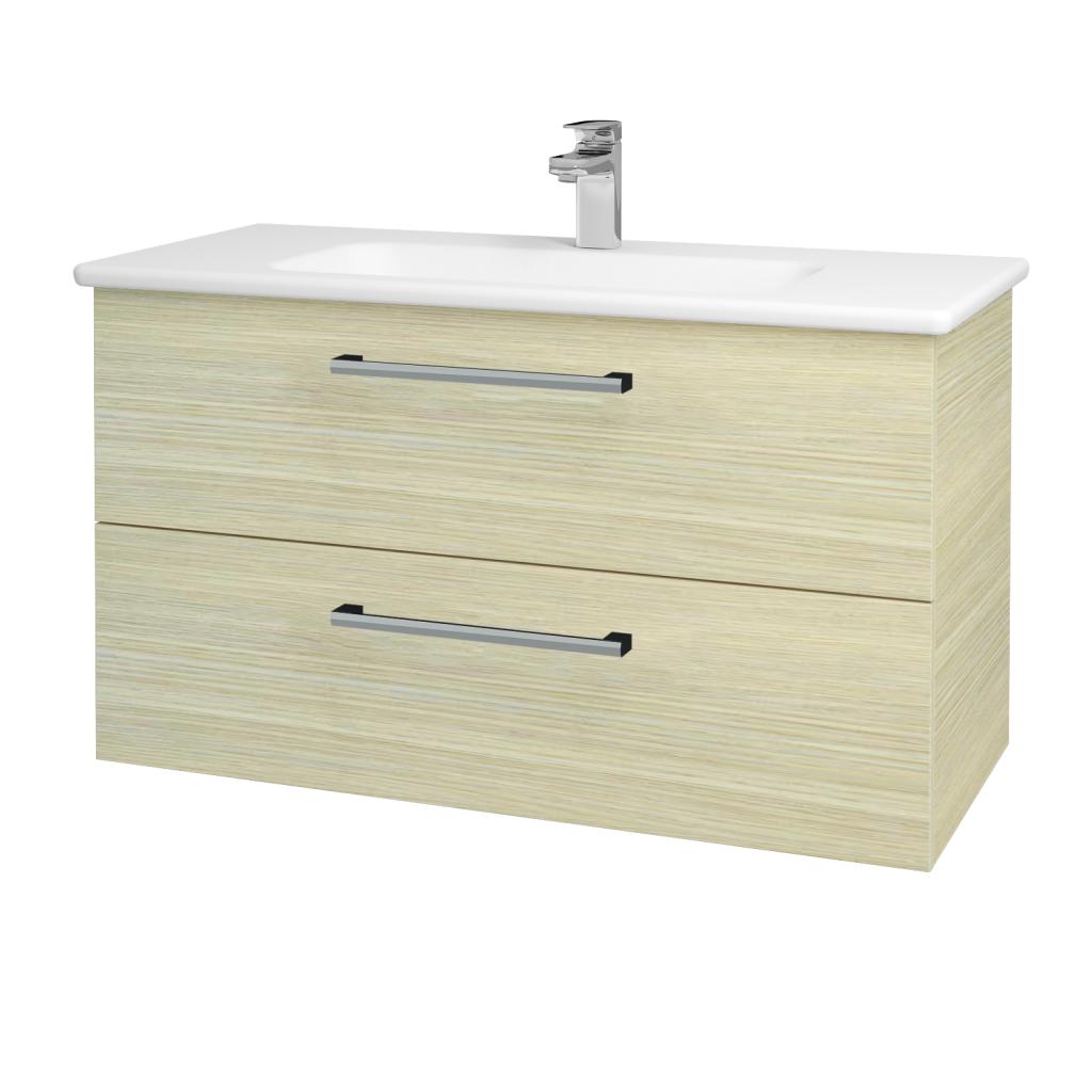 Dřevojas - Koupelnová skříň GIO SZZ2 100 - D04 Dub / Úchytka T03 / D04 Dub (130657C)
