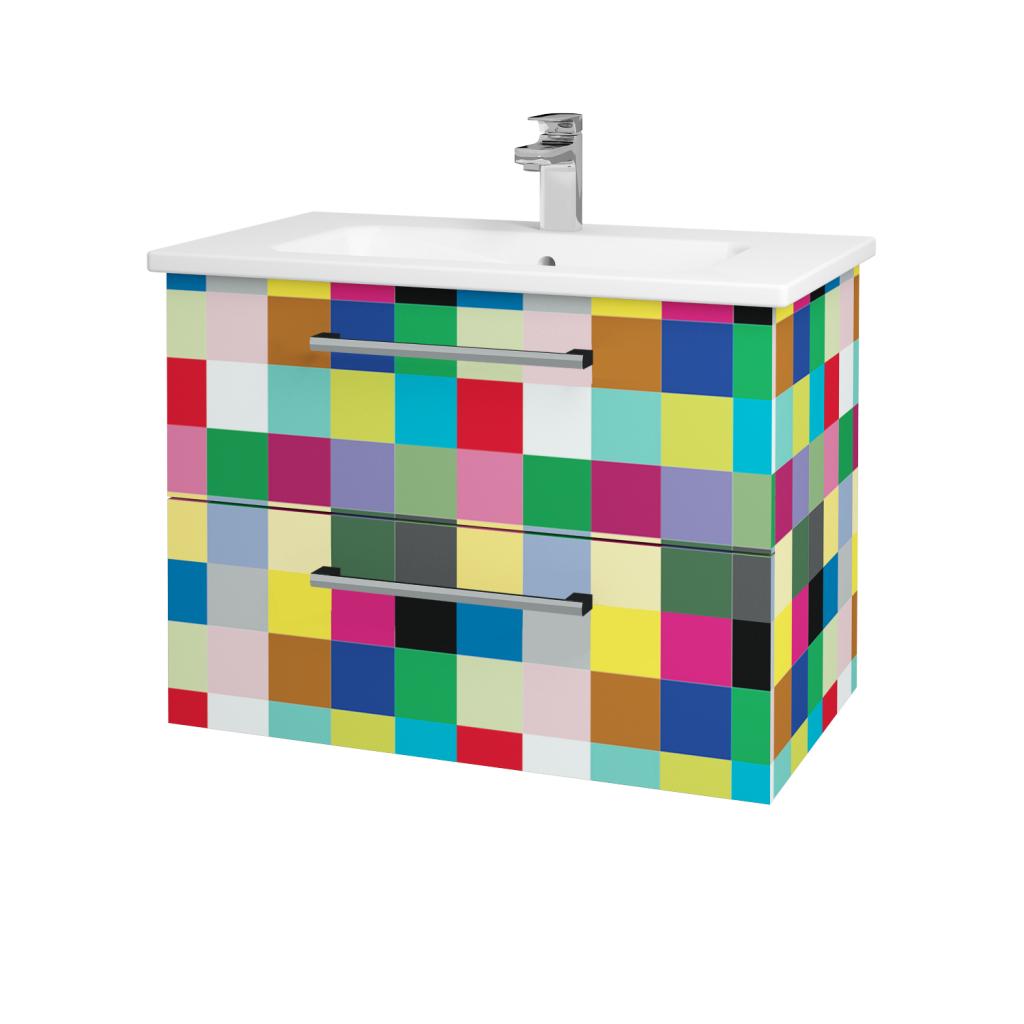 Dřevojas - Koupelnová skříň GIO SZZ2 80 - IND Individual / Úchytka T03 / IND Individual (82119C)