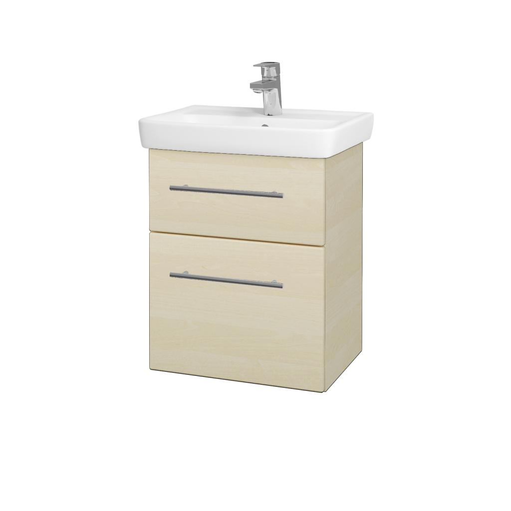Dřevojas - Koupelnová skříň GO SZZ2 50 - D02 Bříza / Úchytka T02 / D02 Bříza (28155B)