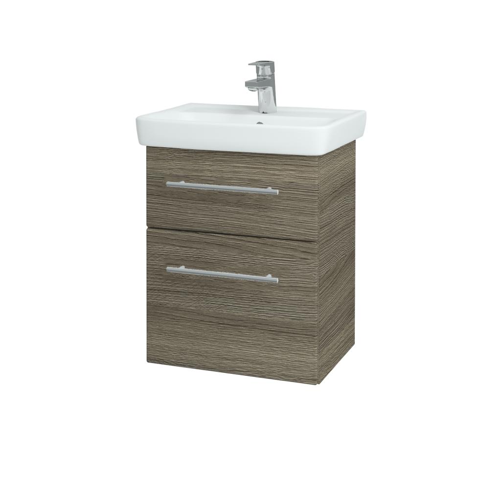 Dřevojas - Koupelnová skříň GO SZZ2 50 - D03 Cafe / Úchytka T02 / D03 Cafe (28063B)