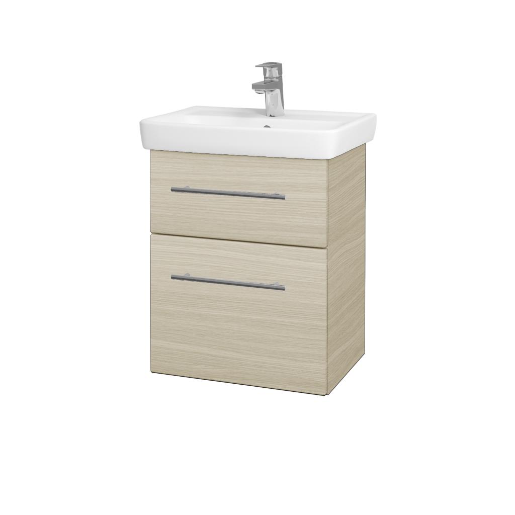 Dřevojas - Koupelnová skříň GO SZZ2 50 - D04 Dub / Úchytka T02 / D04 Dub (28094B)