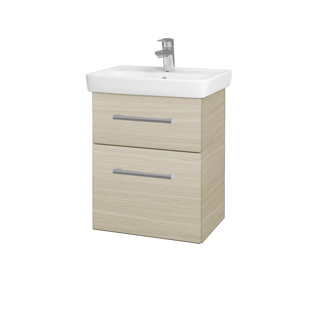 Dřevojas - Koupelnová skříň GO SZZ2 50 - D04 Dub / Úchytka T03 / D04 Dub (28094C)