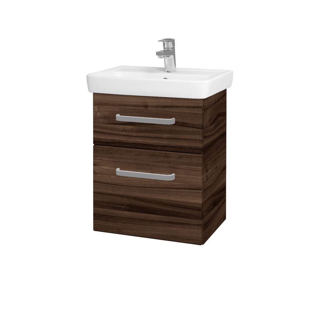 Dřevojas - Koupelnová skříň GO SZZ2 50 - D06 Ořech / Úchytka T01 / D06 Ořech (29763A)