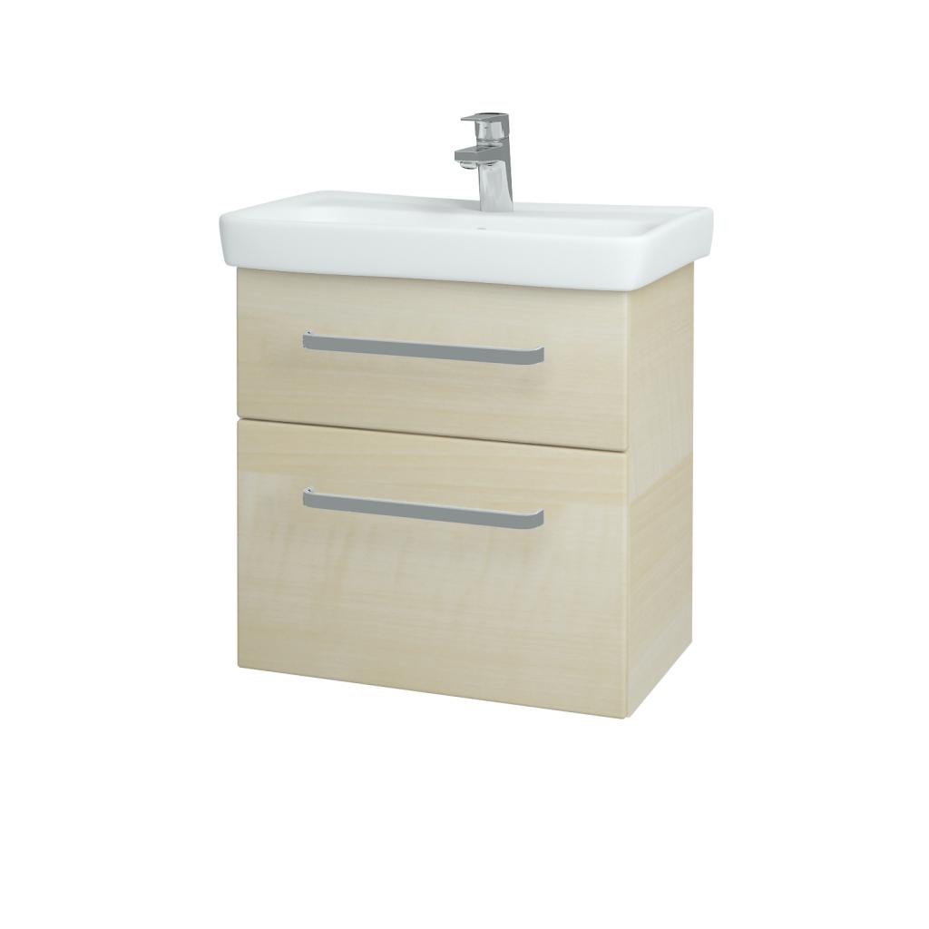 Dřevojas - Koupelnová skříň GO SZZ2 60 - D02 Bříza / Úchytka T01 / D02 Bříza (28179A)