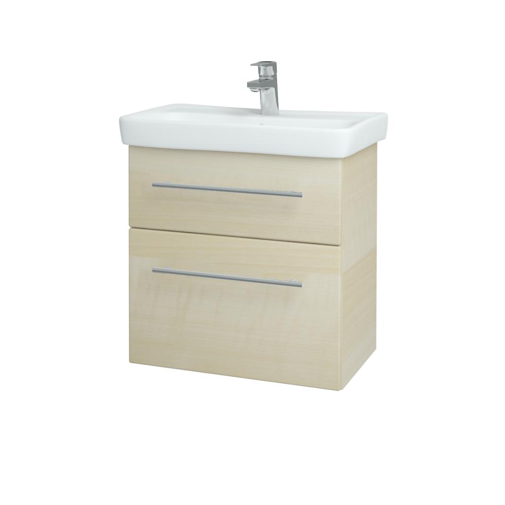Dřevojas - Koupelnová skříň GO SZZ2 60 - D02 Bříza / Úchytka T02 / D02 Bříza (28179B)