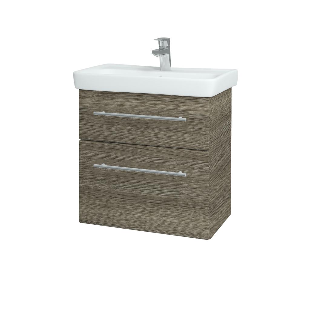 Dřevojas - Koupelnová skříň GO SZZ2 60 - D03 Cafe / Úchytka T02 / D03 Cafe (28087B)