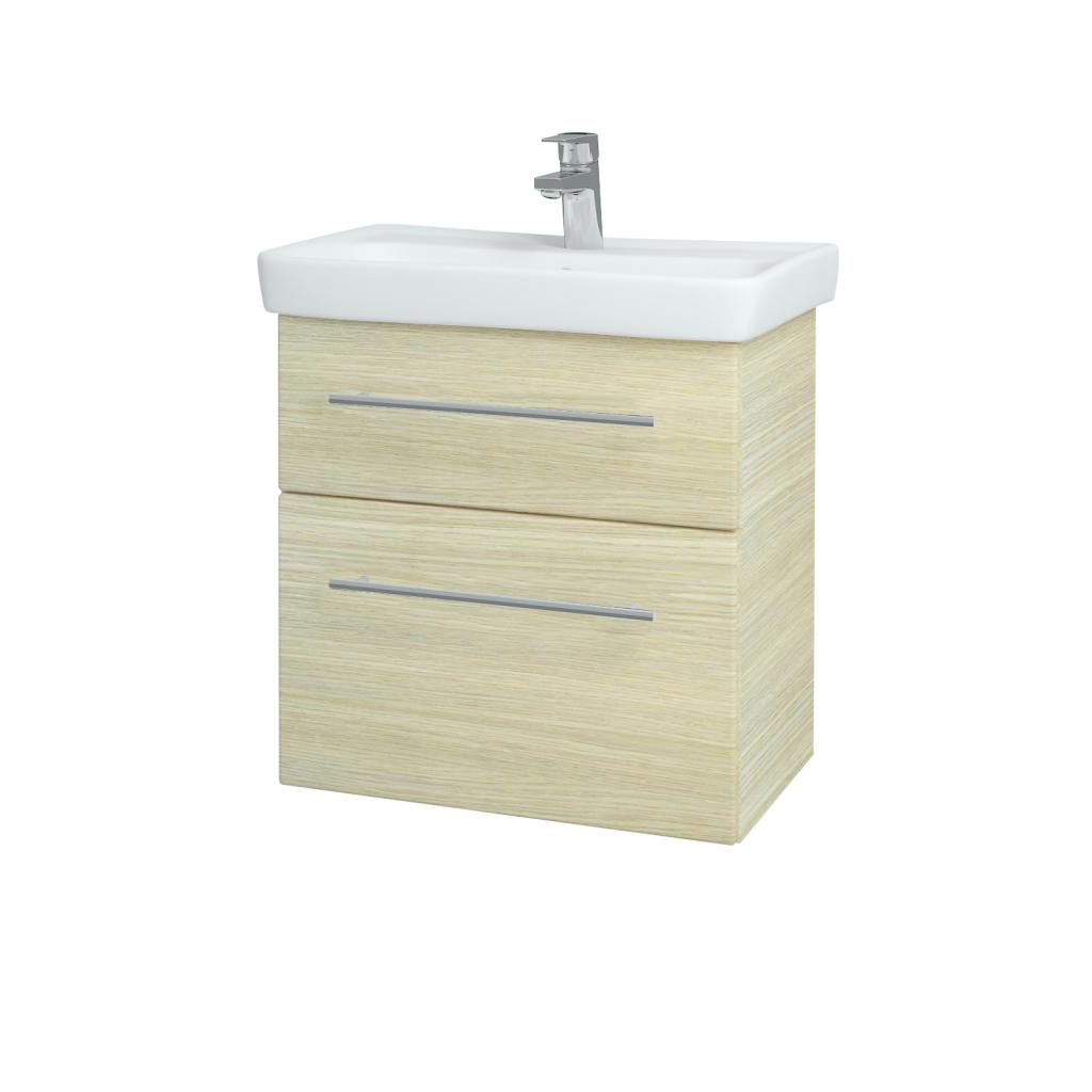 Dřevojas - Koupelnová skříň GO SZZ2 60 - D04 Dub / Úchytka T02 / D04 Dub (28117B)