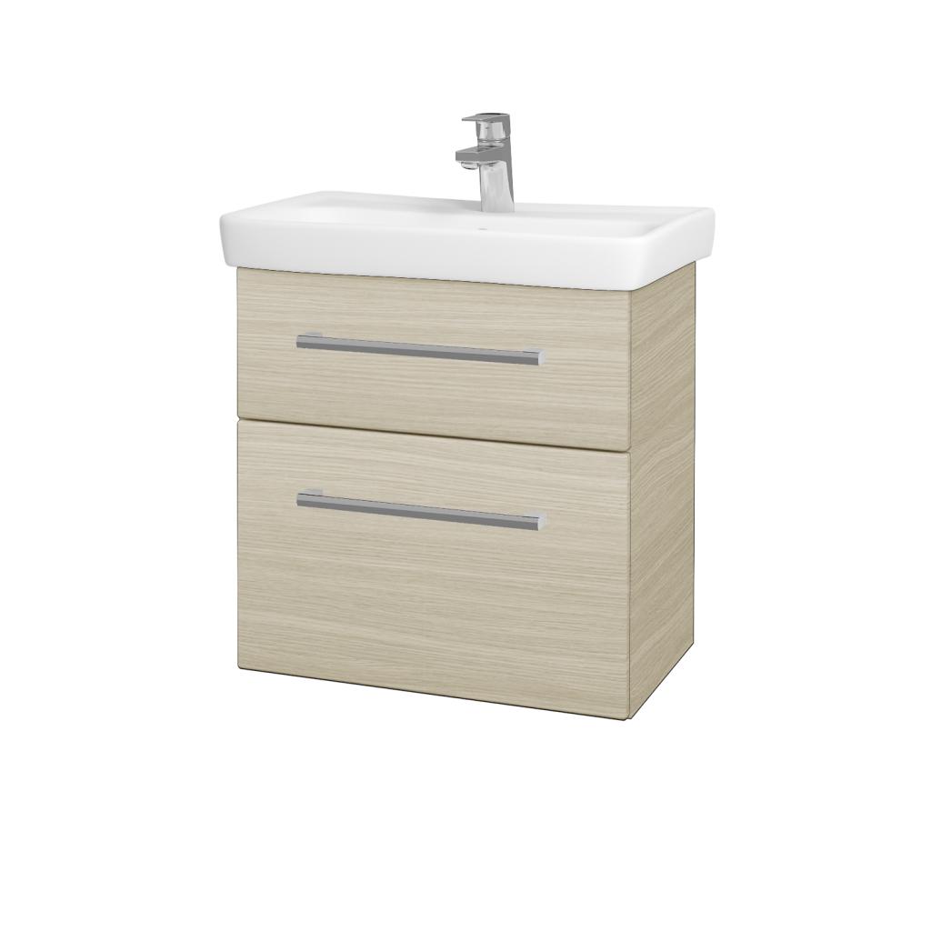 Dřevojas - Koupelnová skříň GO SZZ2 60 - D04 Dub / Úchytka T03 / D04 Dub (28117C)