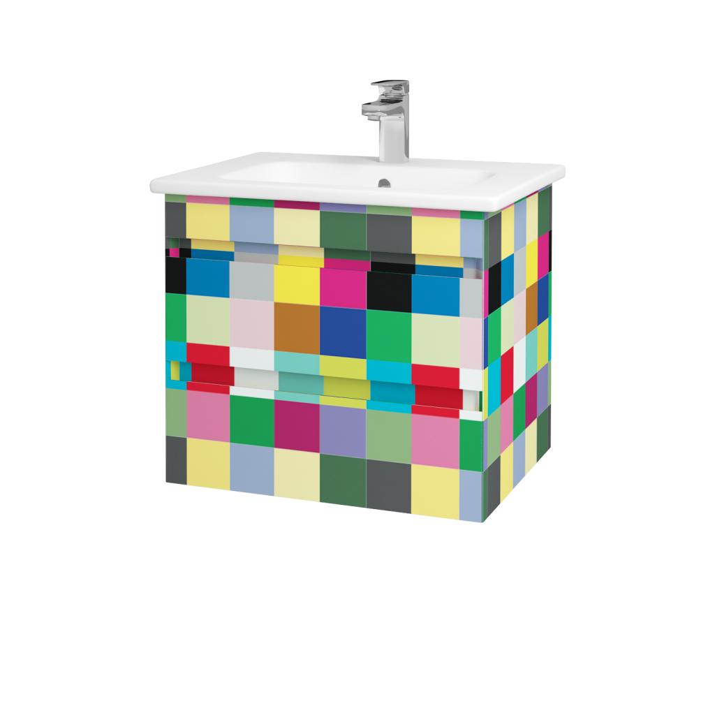 Dřevojas - Koupelnová skříň MAJESTY SZZ2 60 - IND Individual / IND Individual (83734)