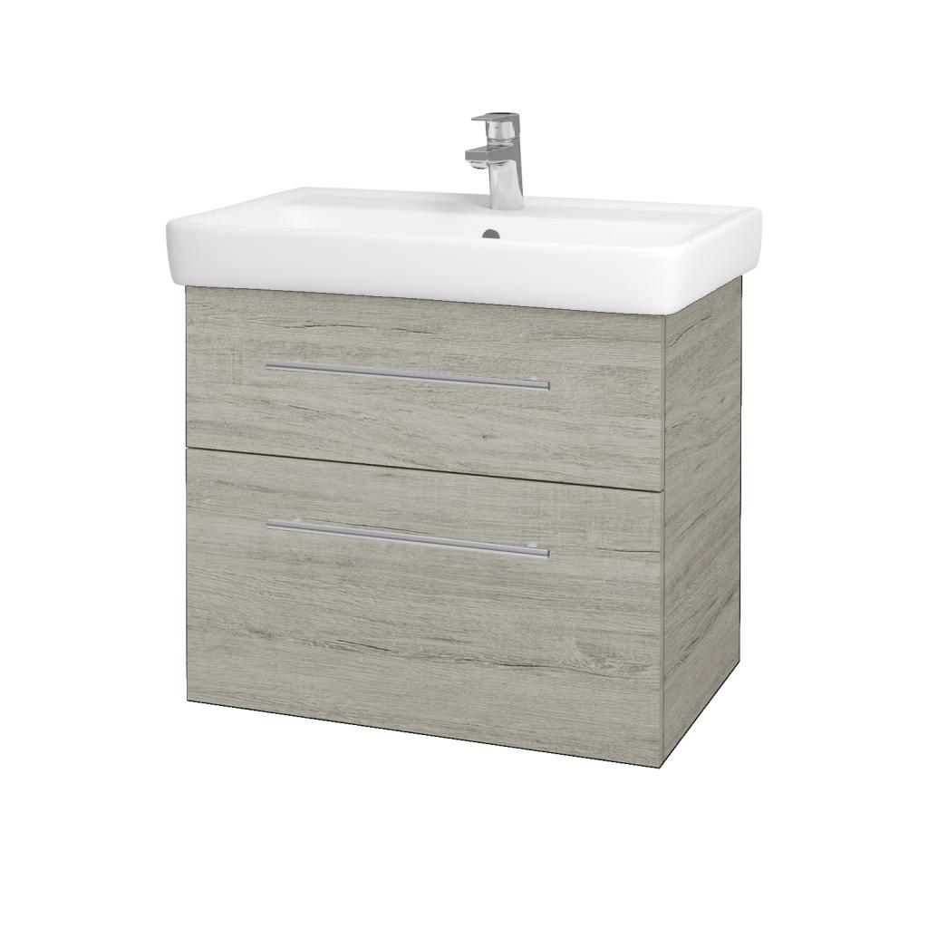 Dřevojas - Koupelnová skříň Q MAX SZZ2 70 - D05 Oregon / Úchytka T02 / D05 Oregon (61329B)