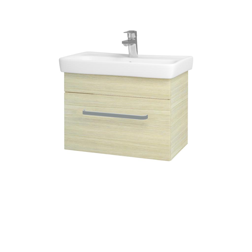 Dřevojas - Koupelnová skříň SOLO SZZ 60 - D04 Dub / Úchytka T01 / D04 Dub (22122A)