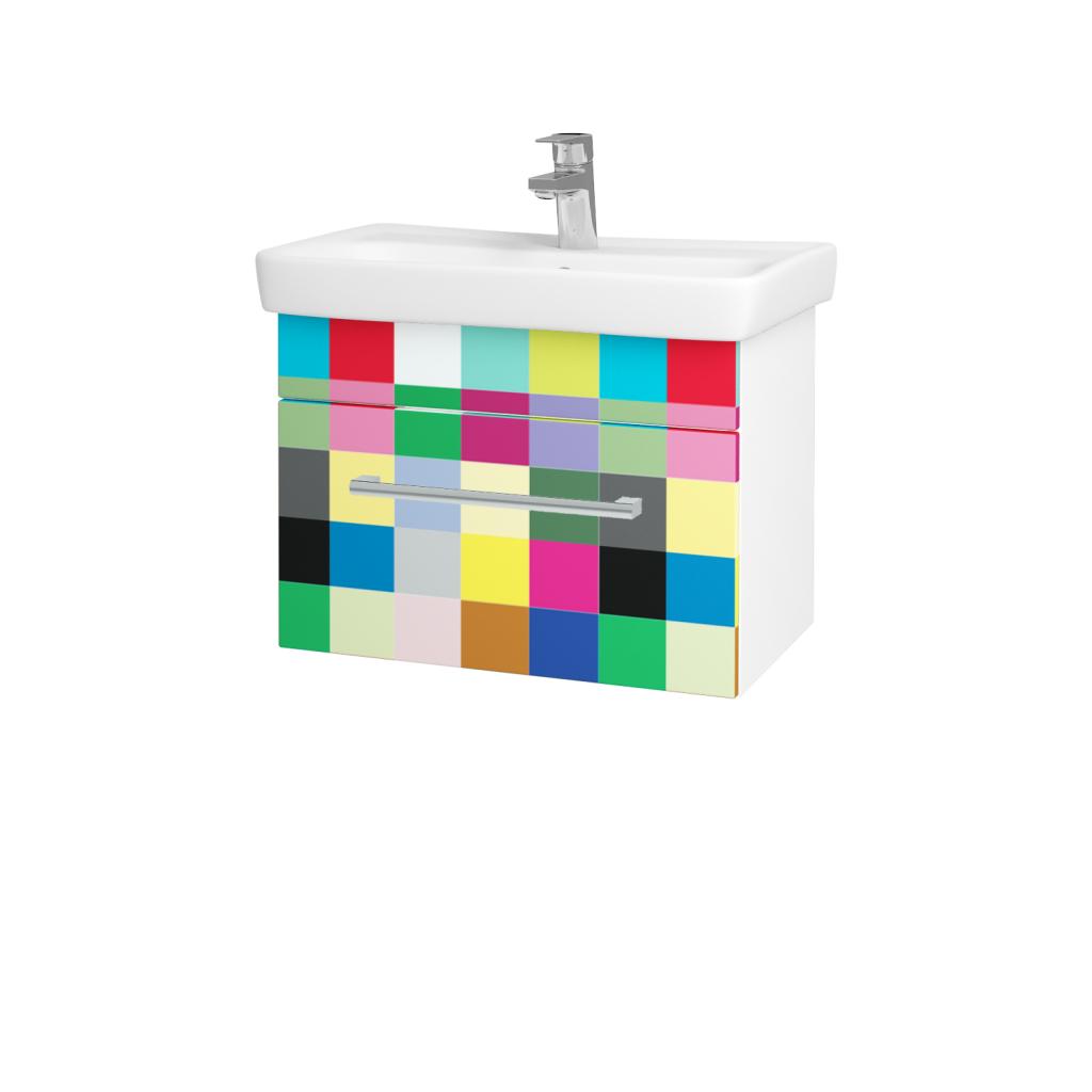 Dřevojas - Koupelnová skříň SOLO SZZ 60 - N01 Bílá lesk / Úchytka T03 / IND Individual (20968C)