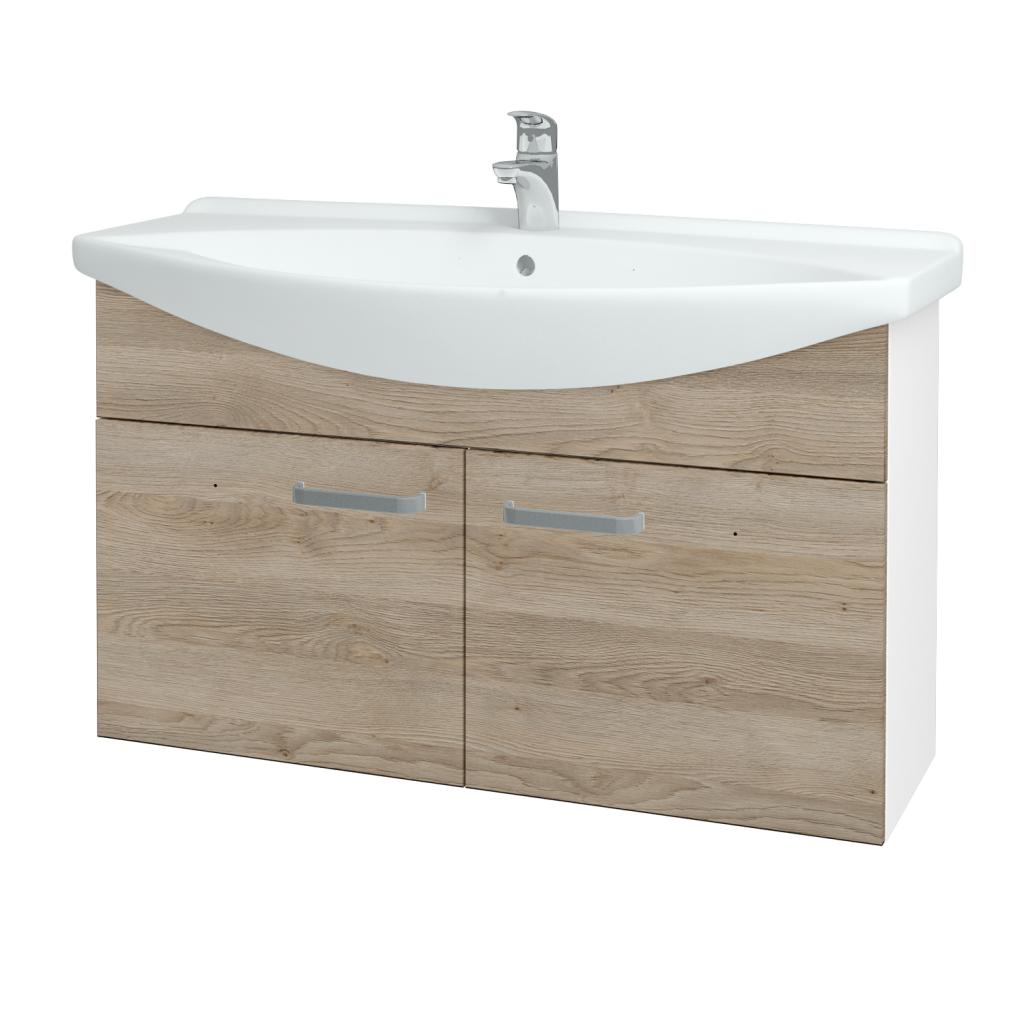 Dřevojas - Koupelnová skříň TAKE IT SZD2 105 - N01 Bílá lesk / Úchytka T01 / D17 Colorado (206390A)