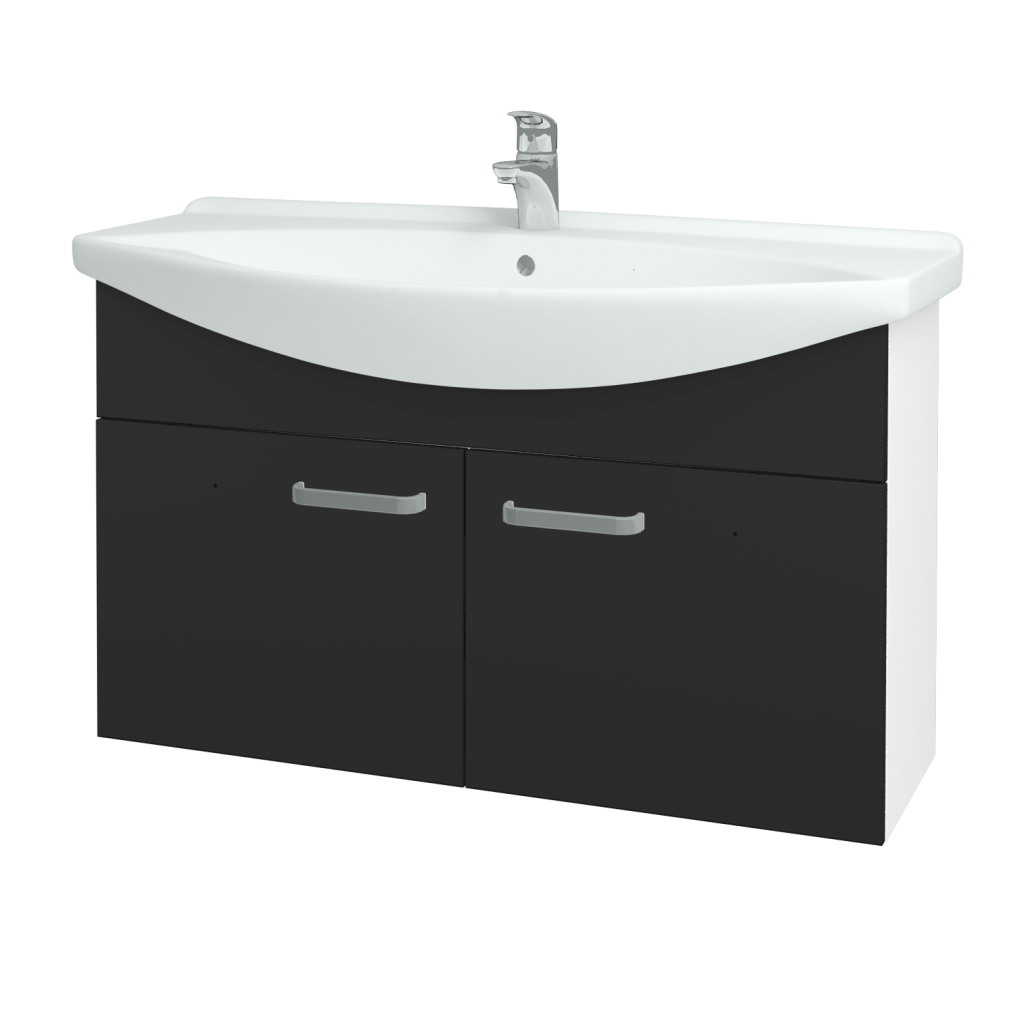 Dřevojas - Koupelnová skříň TAKE IT SZD2 105 - N01 Bílá lesk / Úchytka T01 / N03 Graphite (206406A)