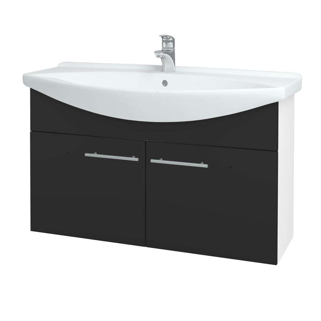 Dřevojas - Koupelnová skříň TAKE IT SZD2 105 - N01 Bílá lesk / Úchytka T02 / N03 Graphite (206406B)