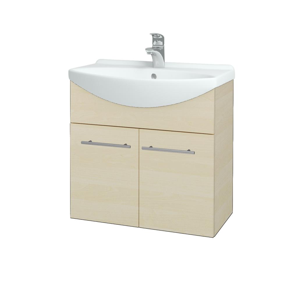 Dřevojas - Koupelnová skříň TAKE IT SZD2 65 - D02 Bříza / Úchytka T02 / D02 Bříza (133245B)