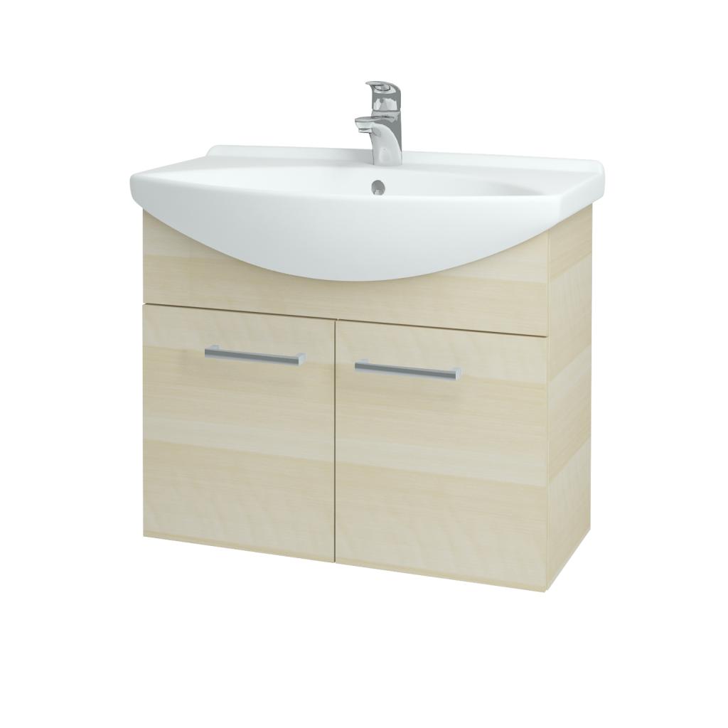 Dřevojas - Koupelnová skříň TAKE IT SZD2 75 - D02 Bříza / Úchytka T03 / D02 Bříza (133313C)