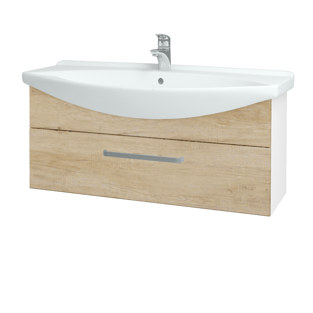 Dřevojas - Koupelnová skříň TAKE IT SZZ 105 - N01 Bílá lesk / Úchytka T01 / D15 Nebraska (207175A)