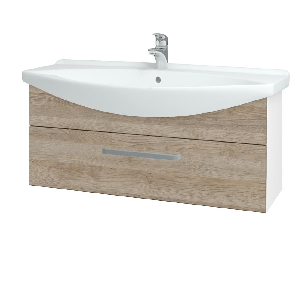 Dřevojas - Koupelnová skříň TAKE IT SZZ 105 - N01 Bílá lesk / Úchytka T01 / D17 Colorado (207199A)