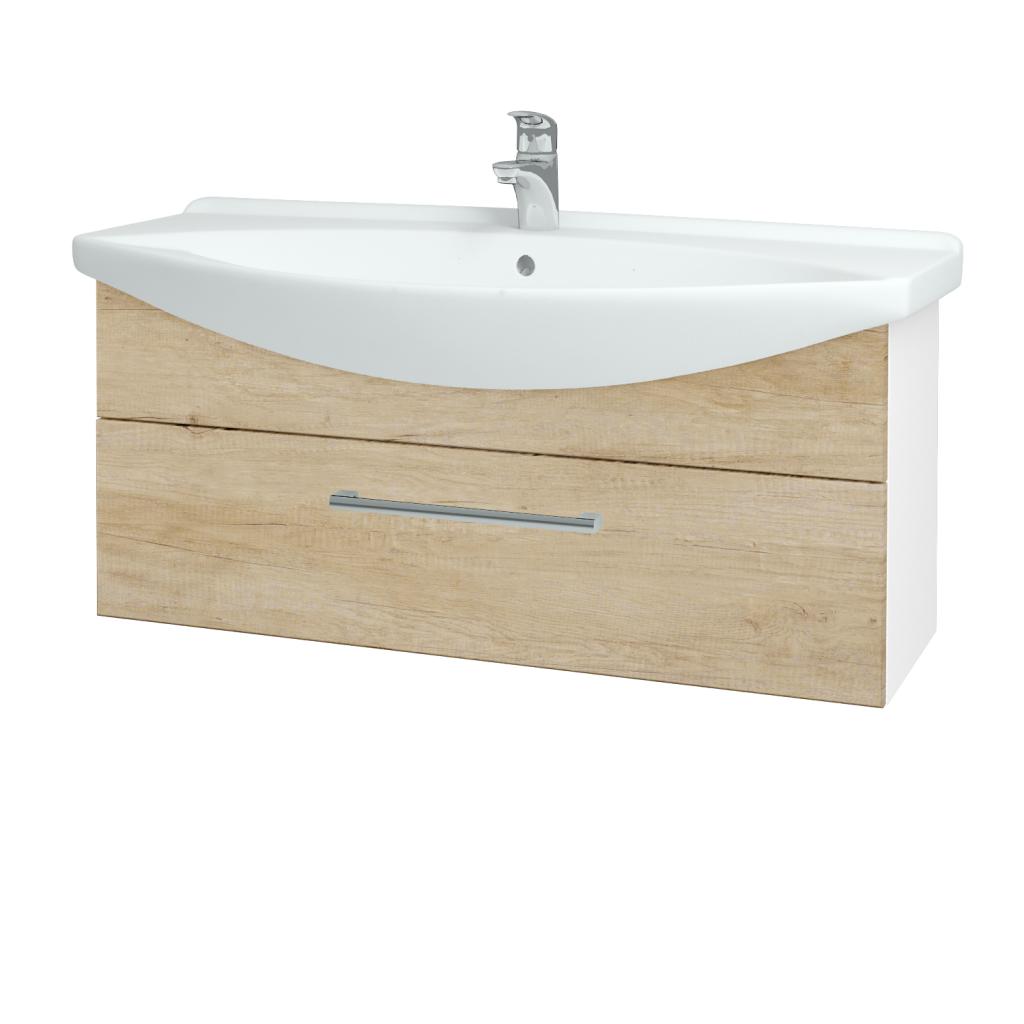 Dřevojas - Koupelnová skříň TAKE IT SZZ 105 - N01 Bílá lesk / Úchytka T03 / D15 Nebraska (207175C)