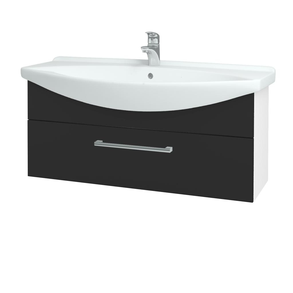 Dřevojas - Koupelnová skříň TAKE IT SZZ 105 - N01 Bílá lesk / Úchytka T03 / N03 Graphite (207205C)