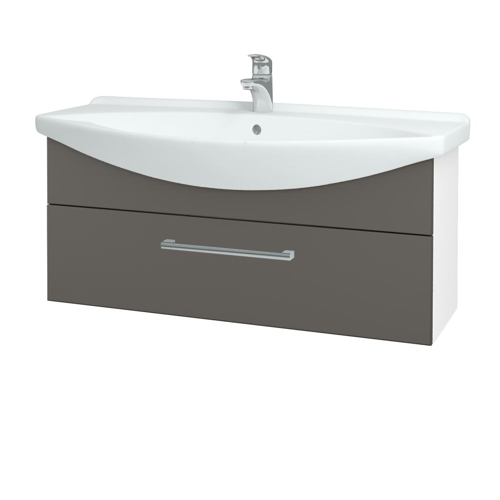 Dřevojas - Koupelnová skříň TAKE IT SZZ 105 - N01 Bílá lesk / Úchytka T03 / N06 Lava (207212C)