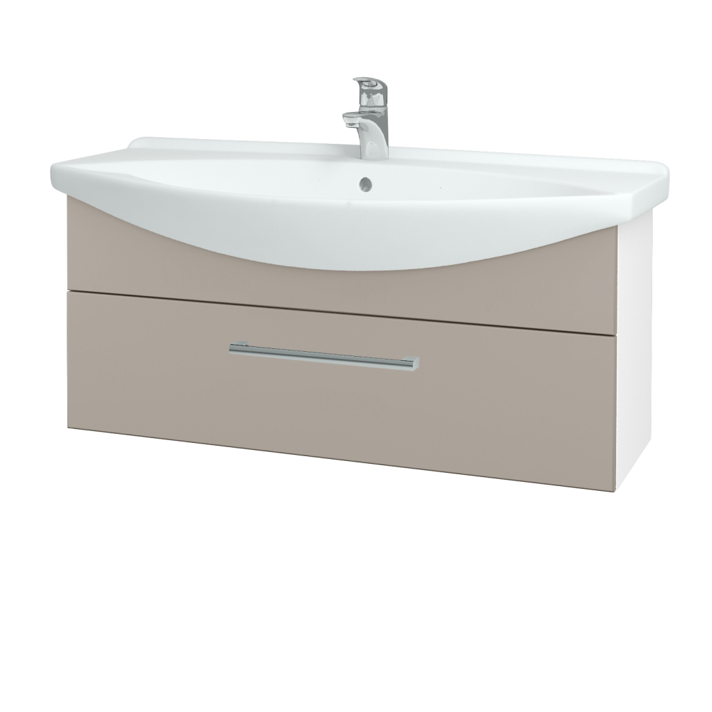 Dřevojas - Koupelnová skříň TAKE IT SZZ 105 - N01 Bílá lesk / Úchytka T03 / N07 Stone (207229C)
