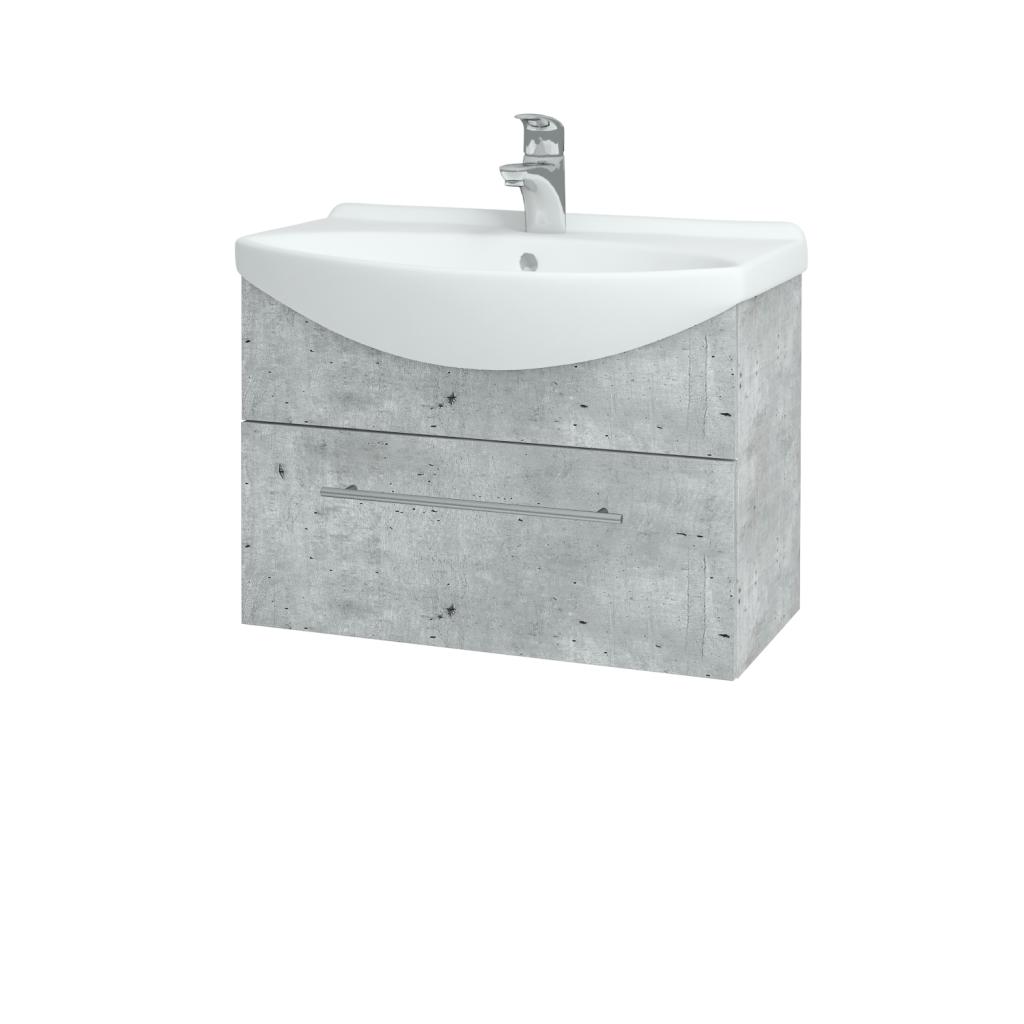 Dřevojas - Koupelnová skříň TAKE IT SZZ 65 - D01 Beton / Úchytka T02 / D01 Beton (133689B)