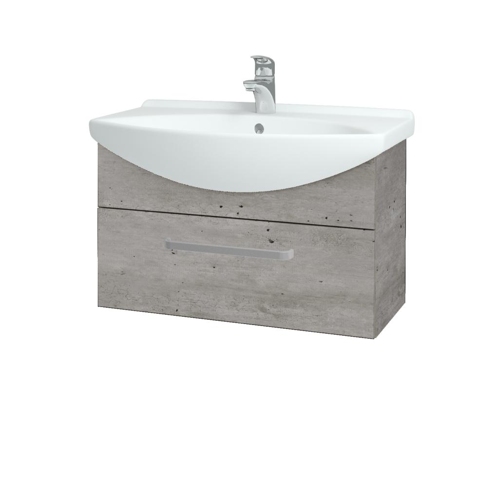 Dřevojas - Koupelnová skříň TAKE IT SZZ 75 - D01 Beton / Úchytka T01 / D01 Beton (133825A)