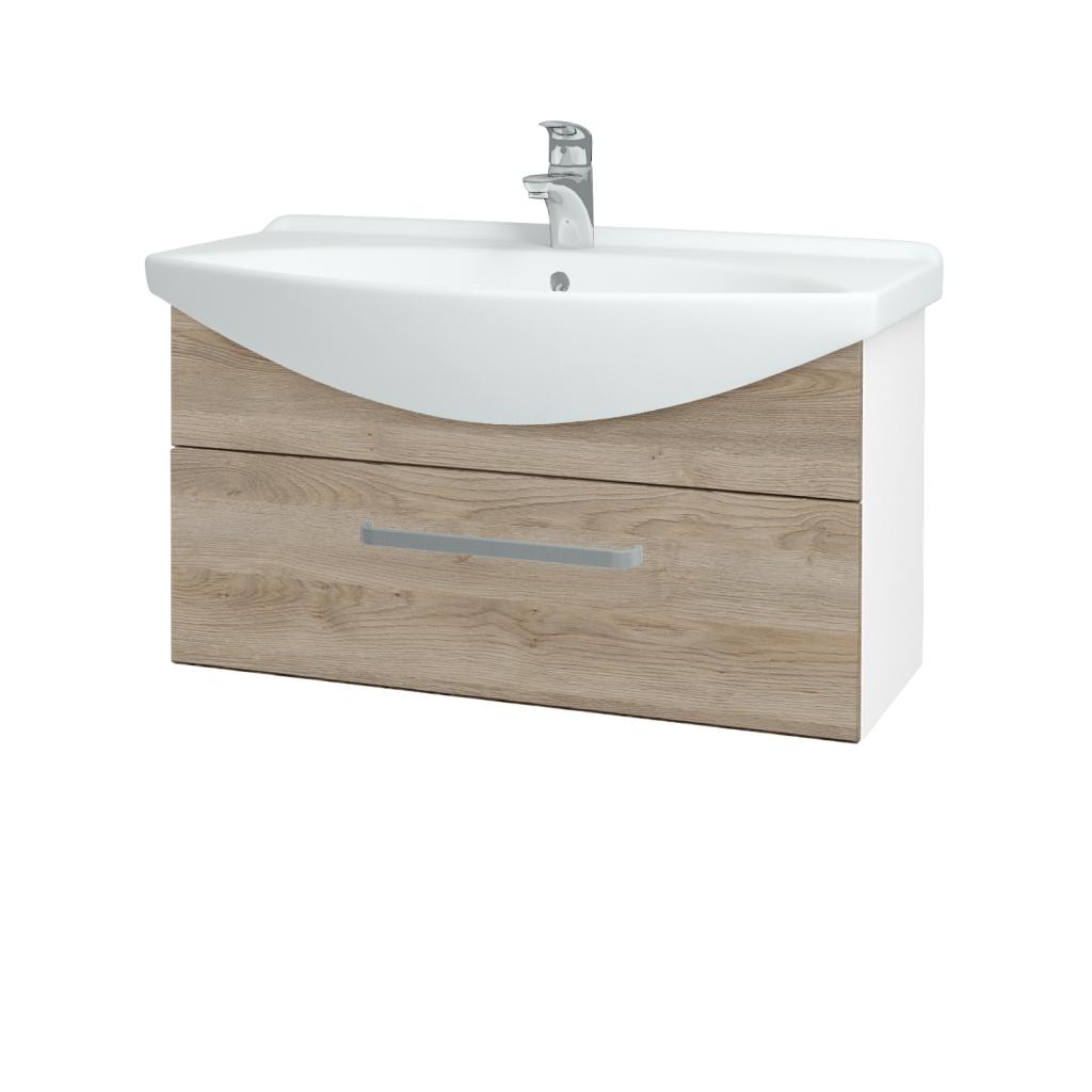 Dřevojas - Koupelnová skříň TAKE IT SZZ 85 - N01 Bílá lesk / Úchytka T01 / D17 Colorado (207038A)