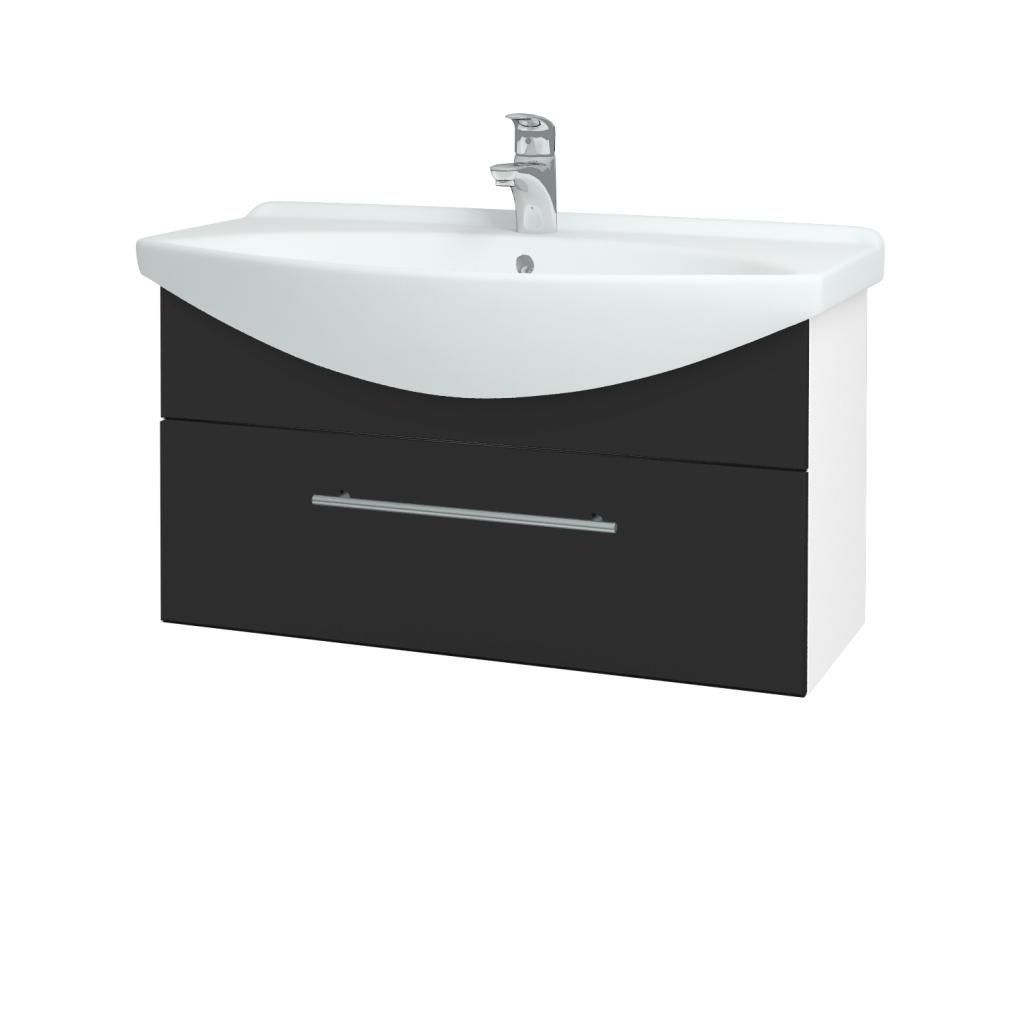 Dřevojas - Koupelnová skříň TAKE IT SZZ 85 - N01 Bílá lesk / Úchytka T02 / N03 Graphite (207045B)