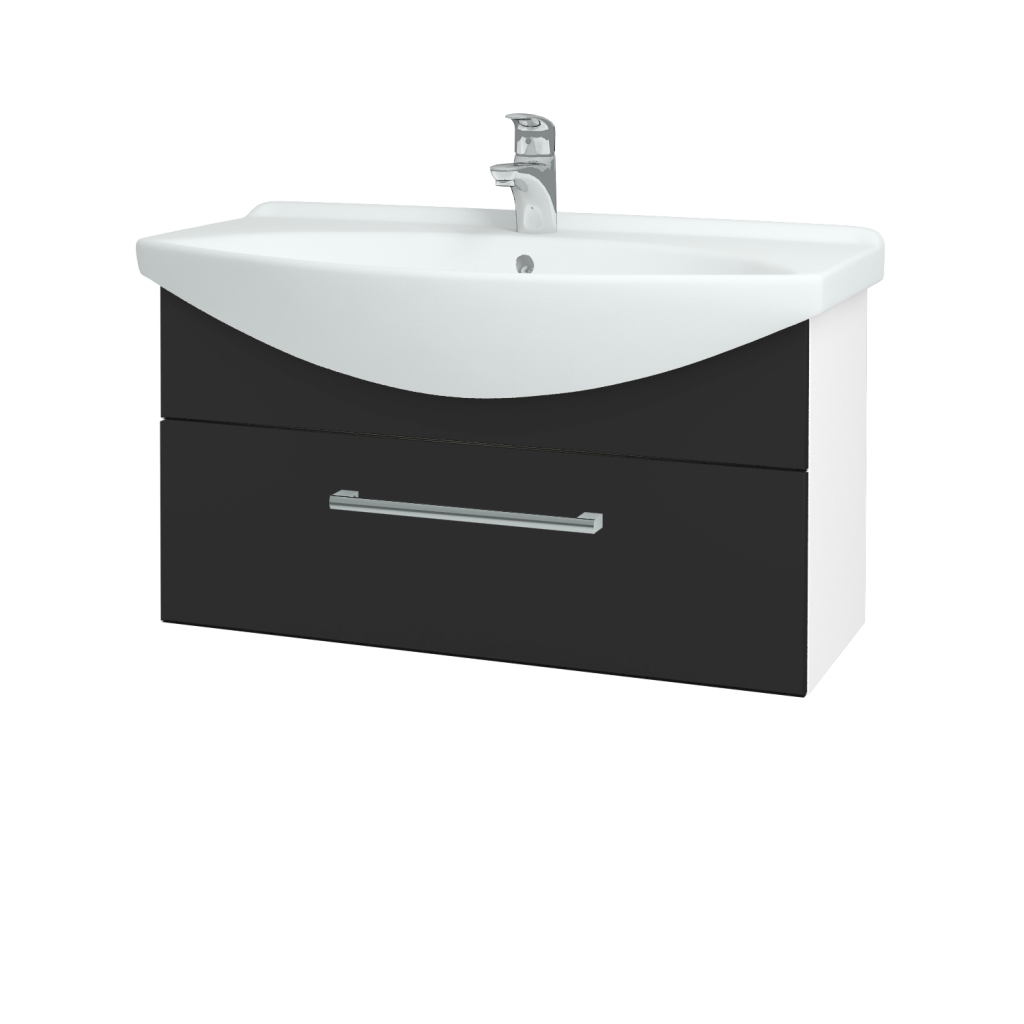 Dřevojas - Koupelnová skříň TAKE IT SZZ 85 - N01 Bílá lesk / Úchytka T03 / N03 Graphite (207045C)