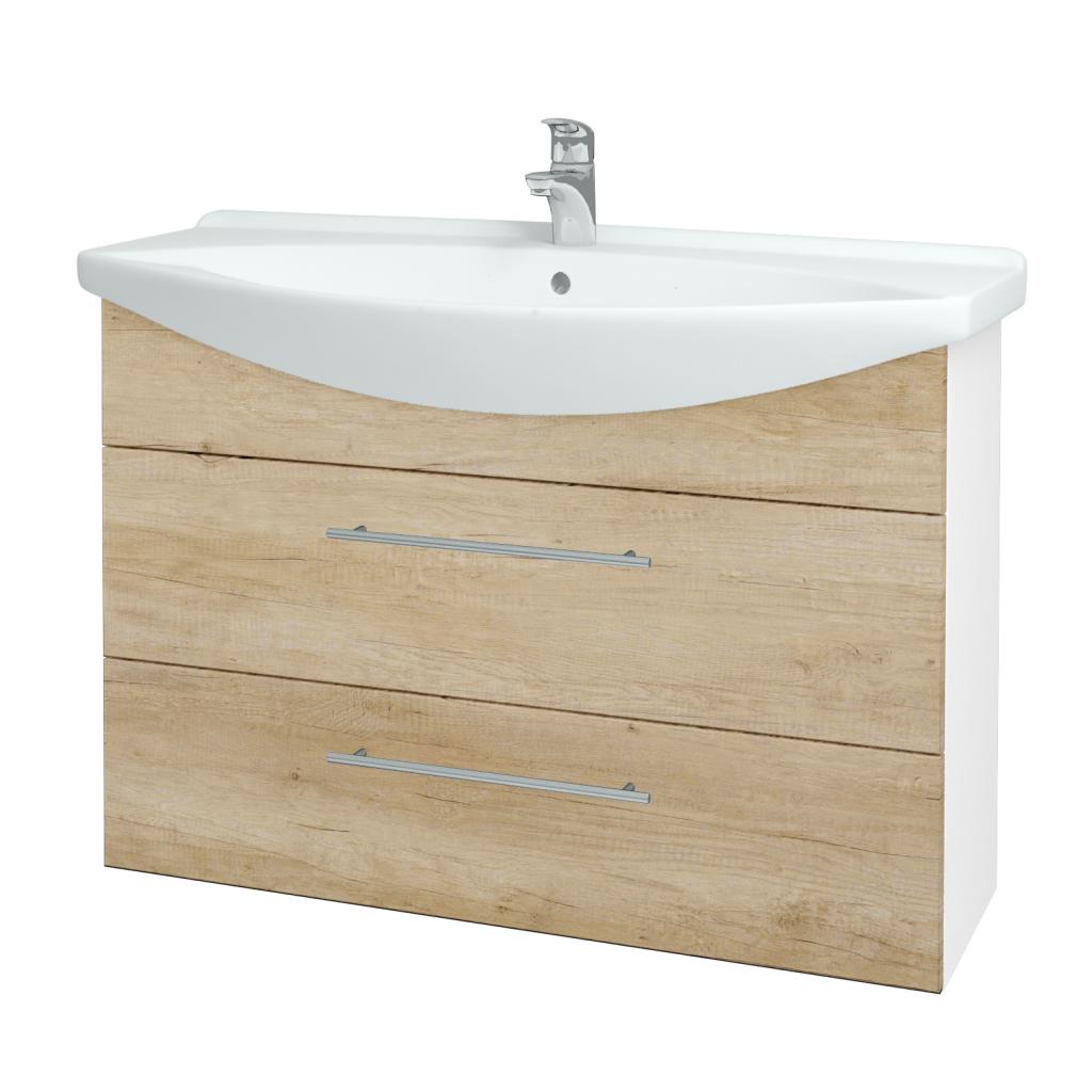 Dřevojas - Koupelnová skříň TAKE IT SZZ2 105 - N01 Bílá lesk / Úchytka T02 / D15 Nebraska (207977B)