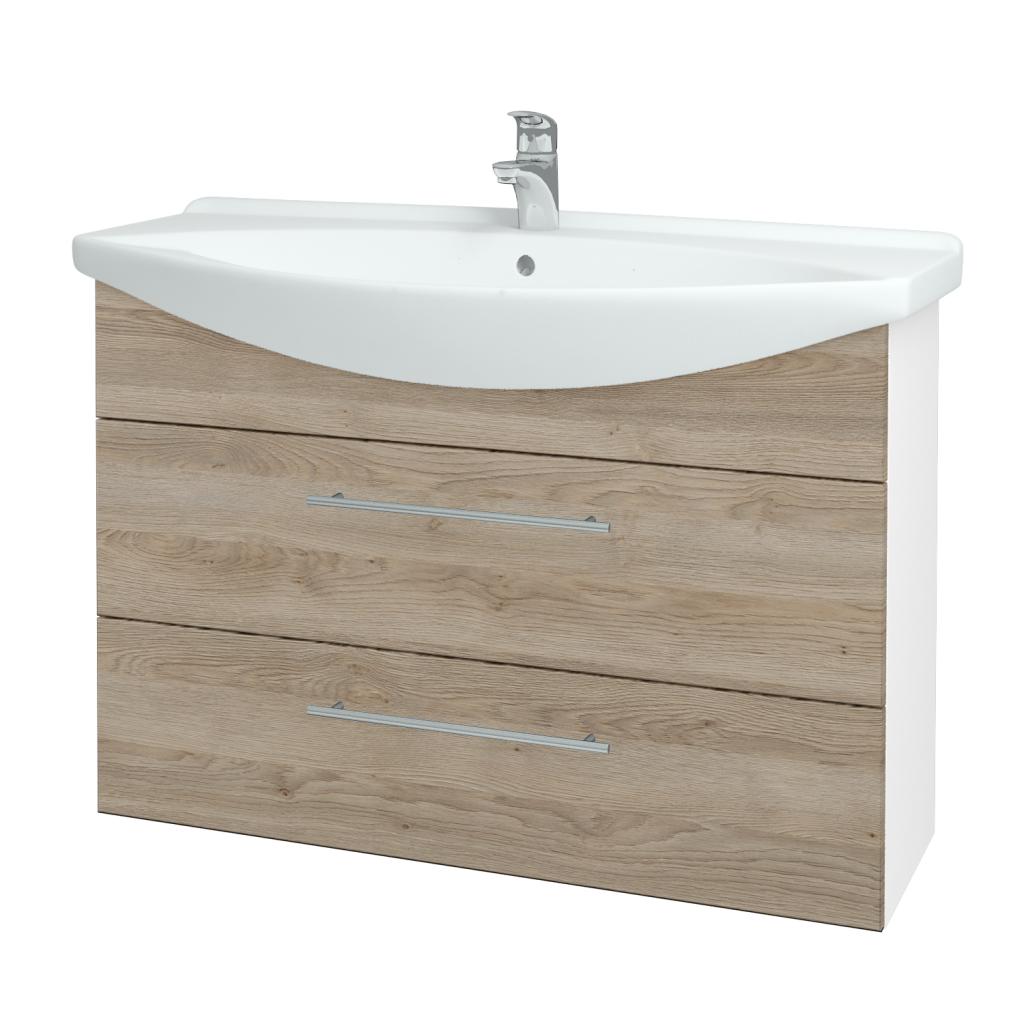Dřevojas - Koupelnová skříň TAKE IT SZZ2 105 - N01 Bílá lesk / Úchytka T02 / D17 Colorado (207991B)