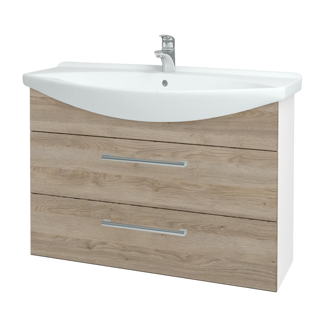 Dřevojas - Koupelnová skříň TAKE IT SZZ2 105 - N01 Bílá lesk / Úchytka T03 / D17 Colorado (207991C)