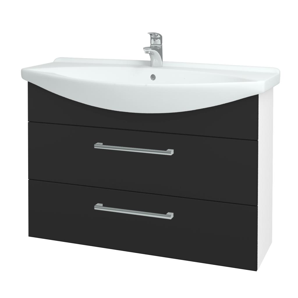 Dřevojas - Koupelnová skříň TAKE IT SZZ2 105 - N01 Bílá lesk / Úchytka T03 / N03 Graphite (208004C)