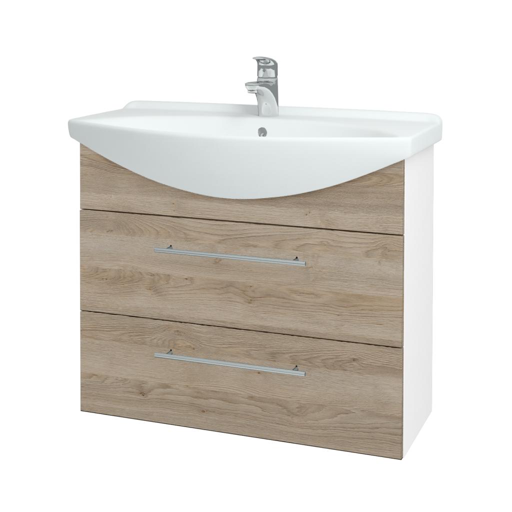 Dřevojas - Koupelnová skříň TAKE IT SZZ2 85 - N01 Bílá lesk / Úchytka T02 / D17 Colorado (207830B)