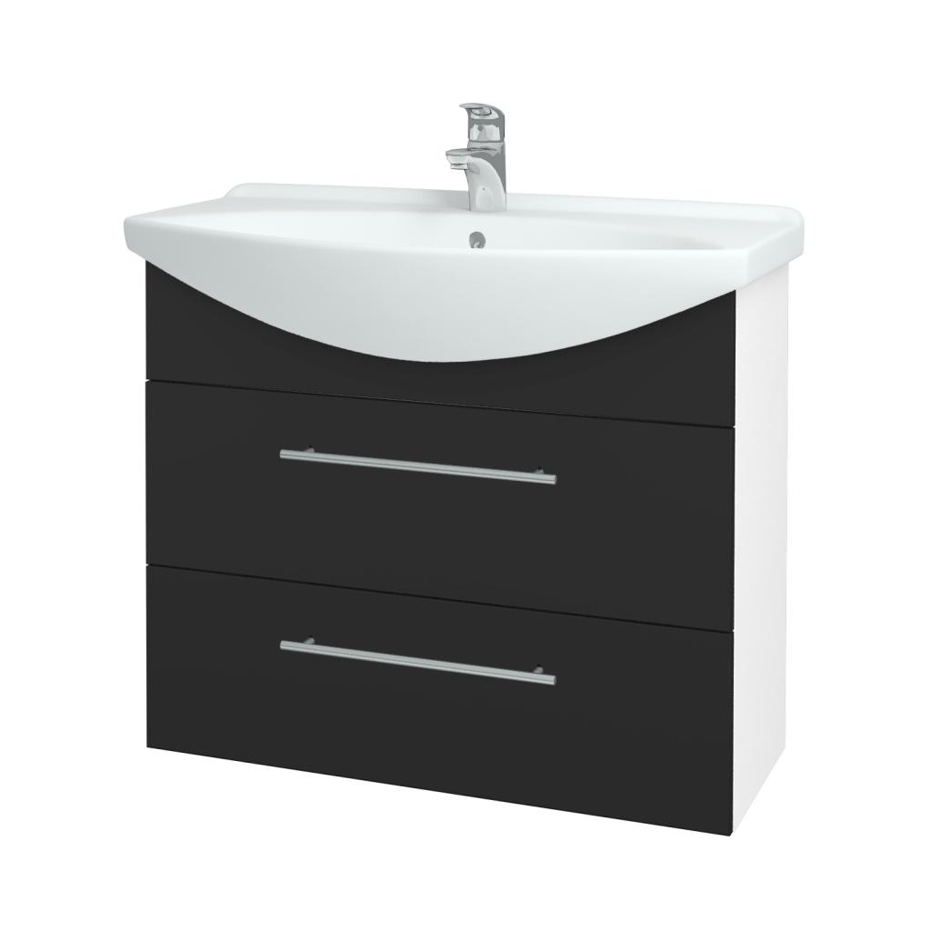 Dřevojas - Koupelnová skříň TAKE IT SZZ2 85 - N01 Bílá lesk / Úchytka T02 / N03 Graphite (207847B)