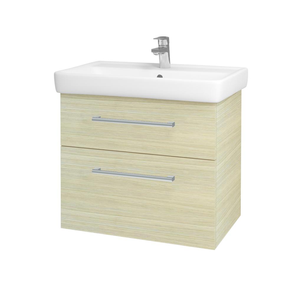 Dřevojas - Koupelnová skříňka Q MAX SZZ2 70 - D04 Dub / Úchytka T03 / D04 Dub (60407C)