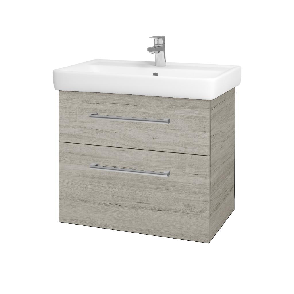 Dřevojas - Koupelnová skříňka Q MAX SZZ2 70 - D05 Oregon / Úchytka T03 / D05 Oregon (61329C)