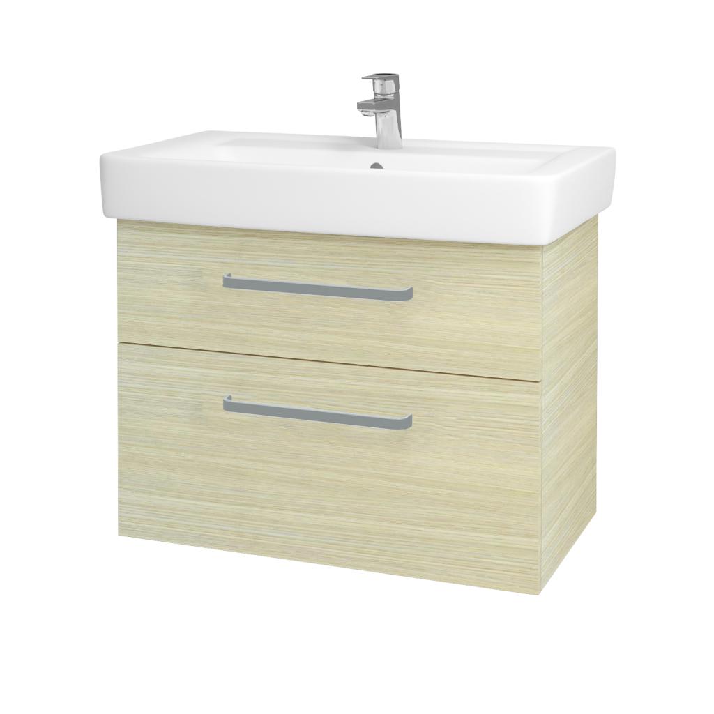 Dřevojas - Koupelnová skříňka Q MAX SZZ2 80 - D04 Dub / Úchytka T01 / D04 Dub (60469A)