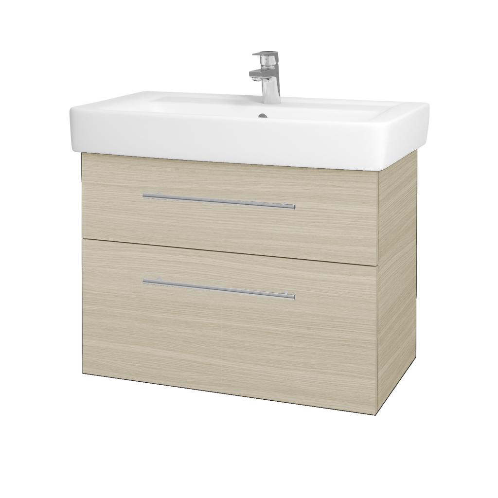 Dřevojas - Koupelnová skříňka Q MAX SZZ2 80 - D04 Dub / Úchytka T02 / D04 Dub (60469B)