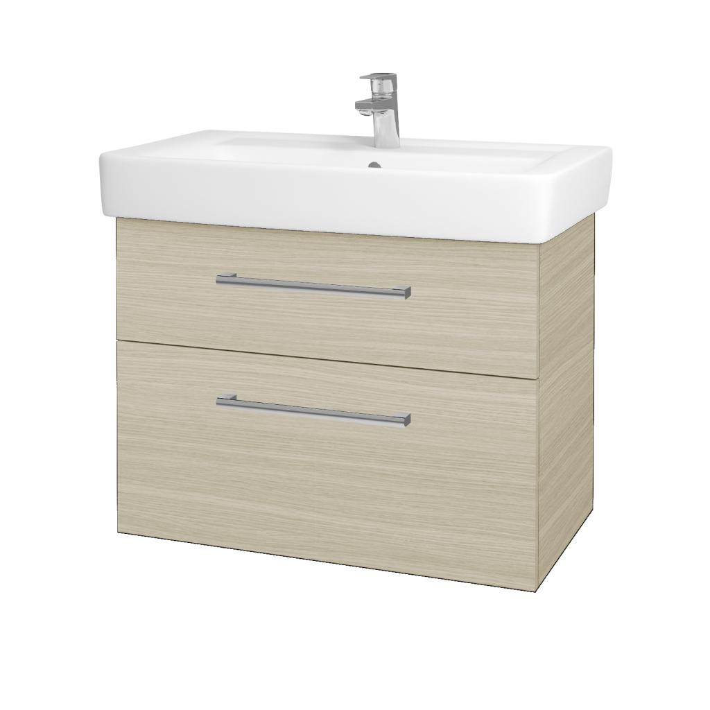 Dřevojas - Koupelnová skříňka Q MAX SZZ2 80 - D04 Dub / Úchytka T03 / D04 Dub (60469C)
