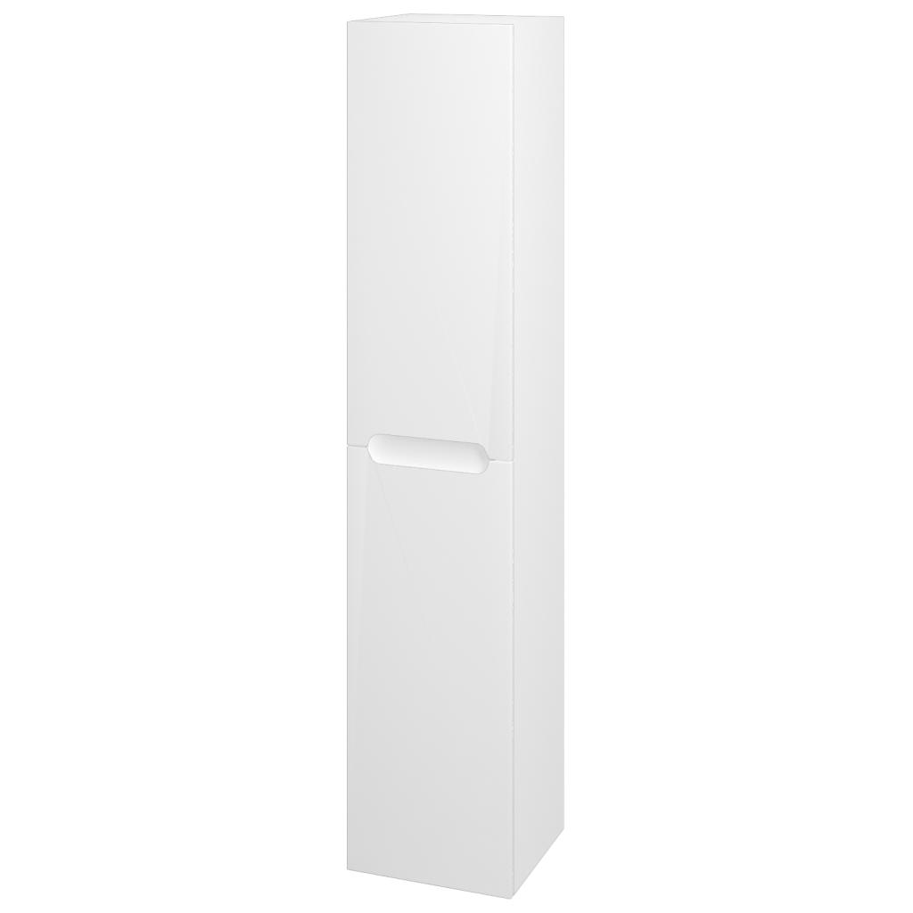 Dřevojas - Skříň vysoká COLOR SVD2 35 - N01 Bílá lesk / L01 Bílá vysoký lesk / Pravé (24553P)