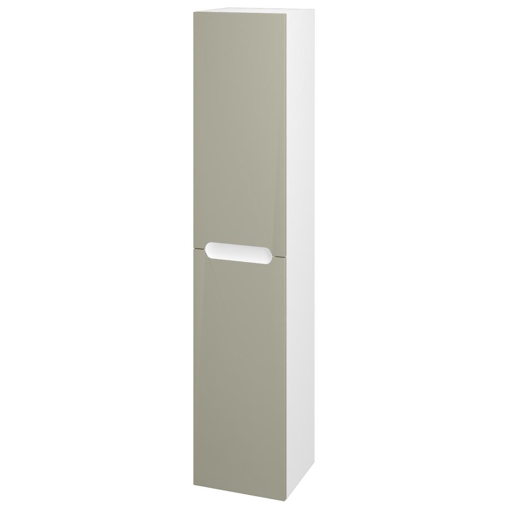 Dřevojas - Skříň vysoká COLOR SVD2 35 - N01 Bílá lesk / L04 Béžová vysoký lesk / Pravé (67642P)