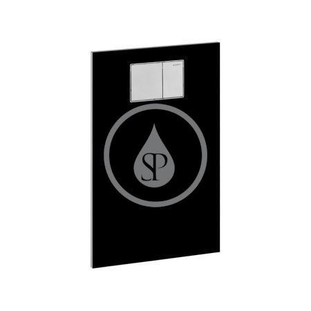 GEBERIT - AquaClean Krycí deska se zabudovaným ovládáním pro bidetová sedátka, sklo/černá (115.324.SJ.1)